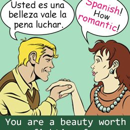 Cheesy pick up lines in spanish